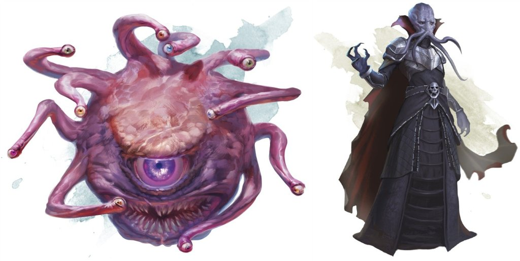 iconic Dungeons & Dragons monsters beholder mind flayer