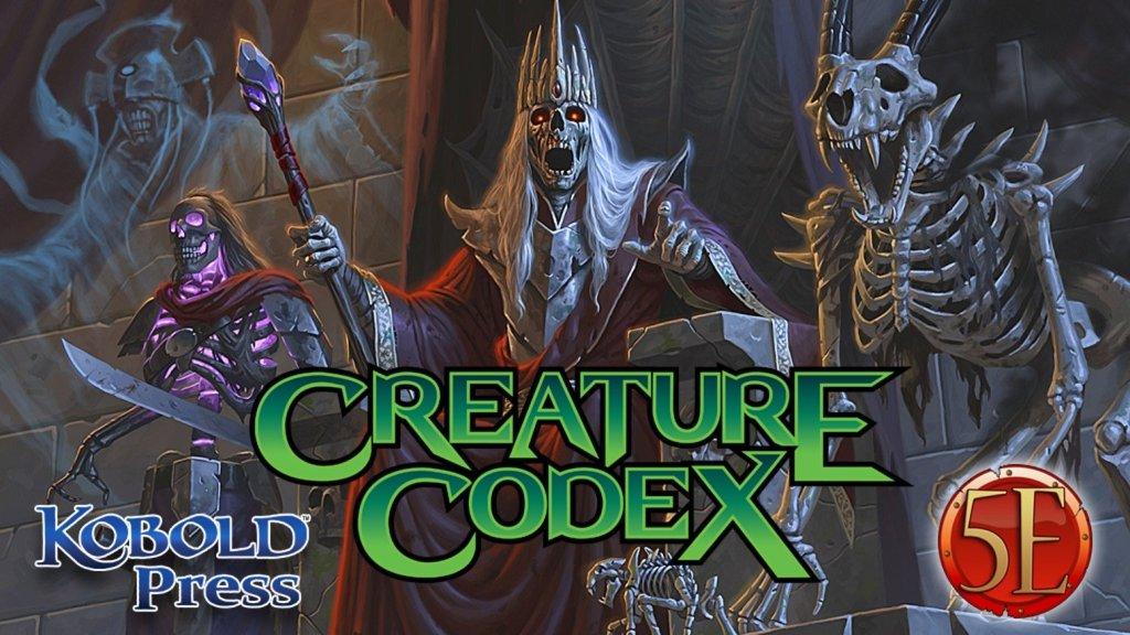 Creature Codex Kobold Press new monsters