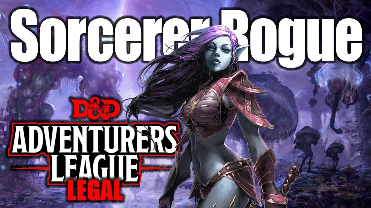 D&D 5e Character Creation Drow Sorcerer Rogue Adventurers