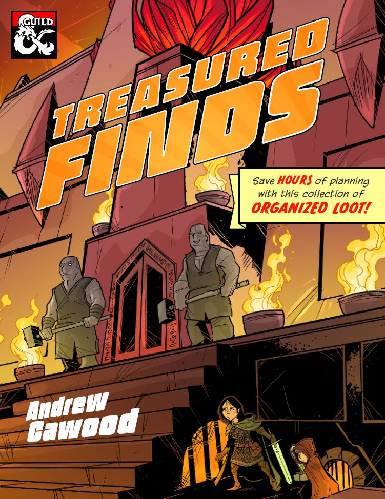 Treasured Finds Cawood Publishing D&D random treasure