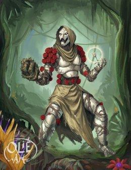 warforged druid rose healer healbot