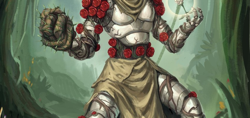 warforged druid rose healer healbot