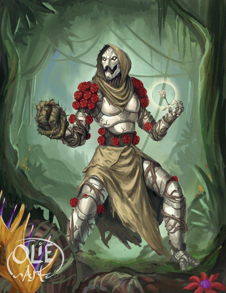 warforged druid rose healer healbot 5E D&D support character