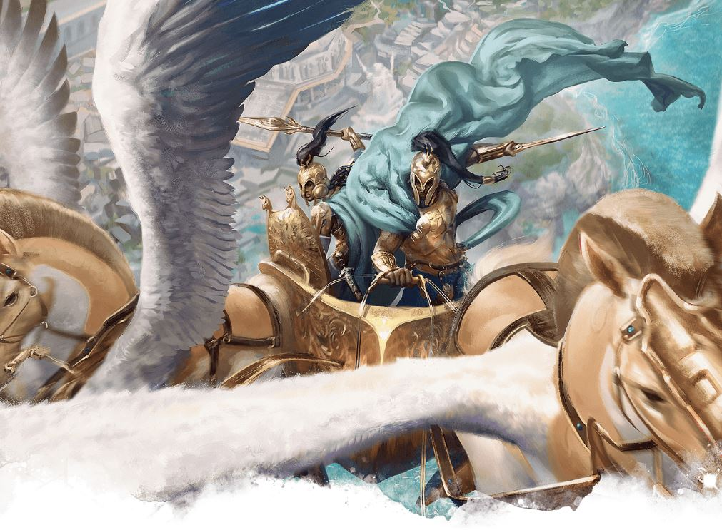 5E D&D Theros magic items artifacts flying chariot