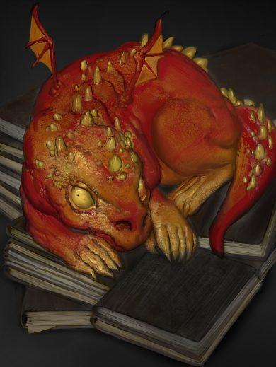 5E D&D dragon draconic library drake