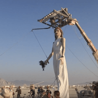 Giant Puppets Roamed Burning Man 2017
