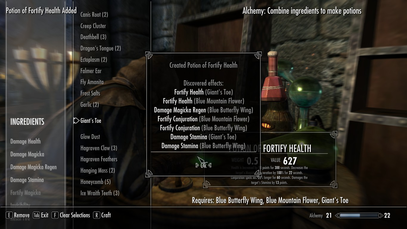The Best Potions In Skyrim Skyrim Potions Guide Includes Alchemy