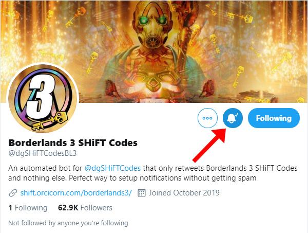 Borderlands 3 Shift Codes Twitter