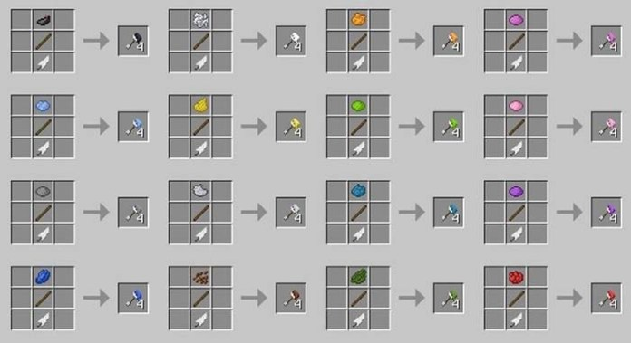 Minecraft Arrows
