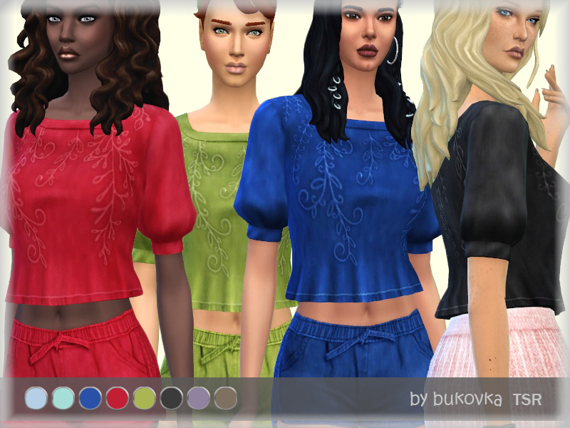 Shirts & Denim Sims 4 Cc