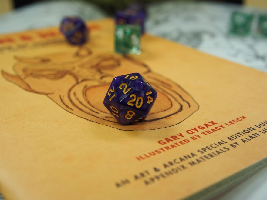 Dnd Dice And Book Close Up