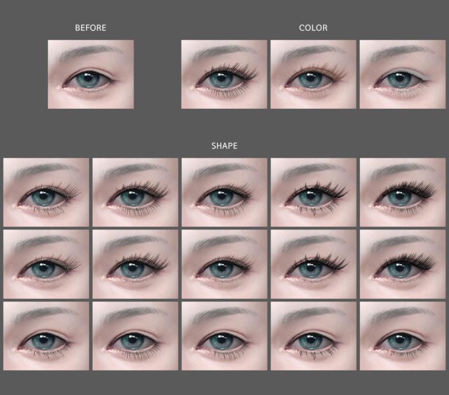 Mmsims Eyelash V4 Set