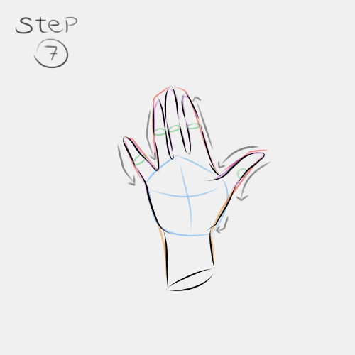 Anime Hand Palm View 7