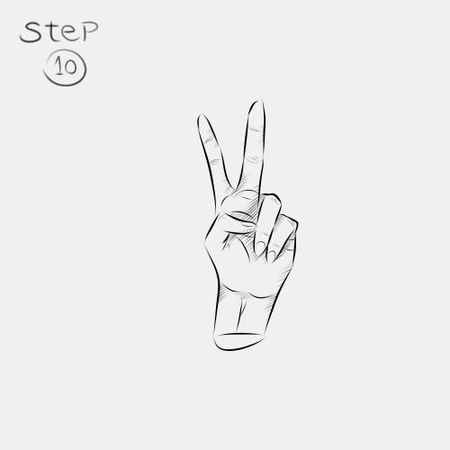 Anime Hand Peace Sign 10
