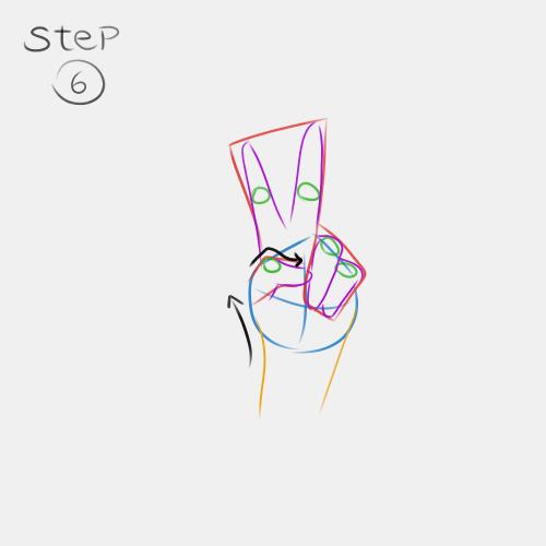 Anime Hand Peace Sign 6