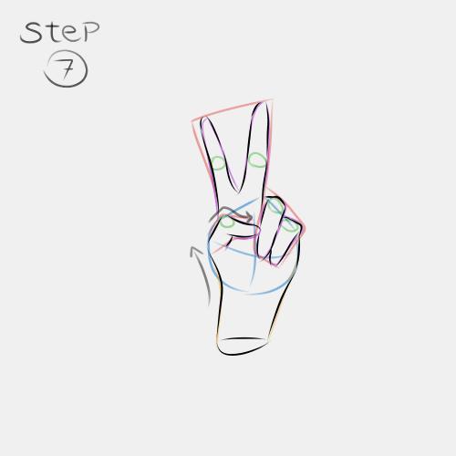 Anime Hand Peace Sign 7
