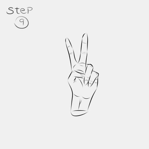 Anime Hand Peace Sign 9