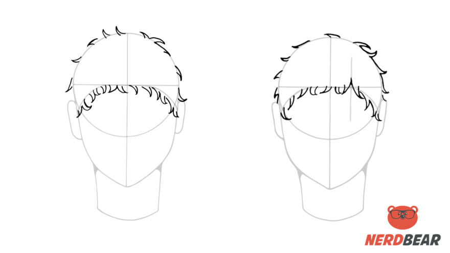How To Draw Male Anime Hair Short 3