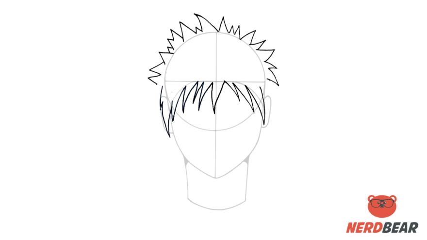 How To Draw Male Anime Hair Spiky Hair 4