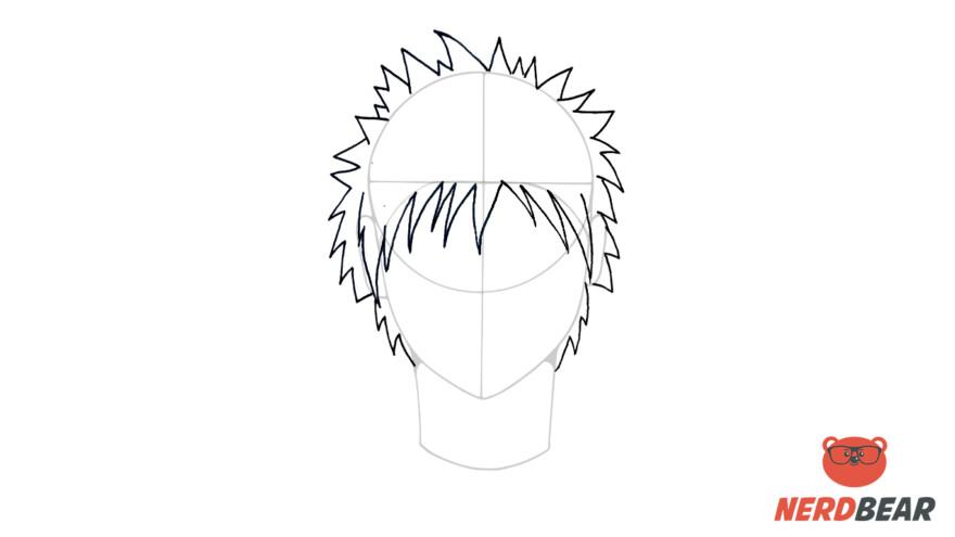 How To Draw Male Anime Hair Spiky Hair 5