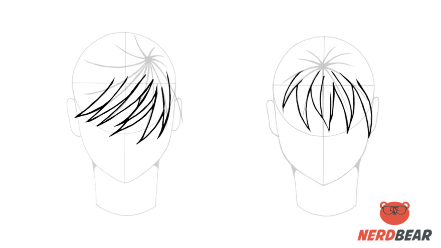 How To Draw Male Anime Hair Straight 2