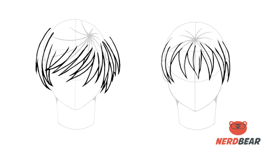 How To Draw Male Anime Hair Straight 3