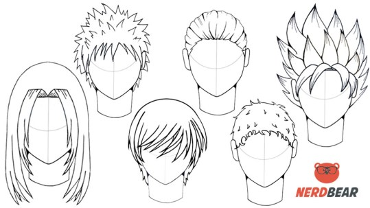 How To Draw Male Anime Hair