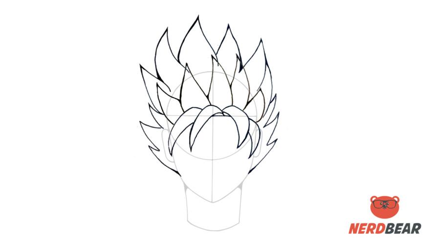 How To Draw Super Saiyan Hair 4