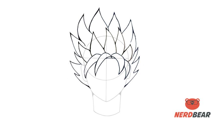 How To Draw Super Saiyan Hair 5