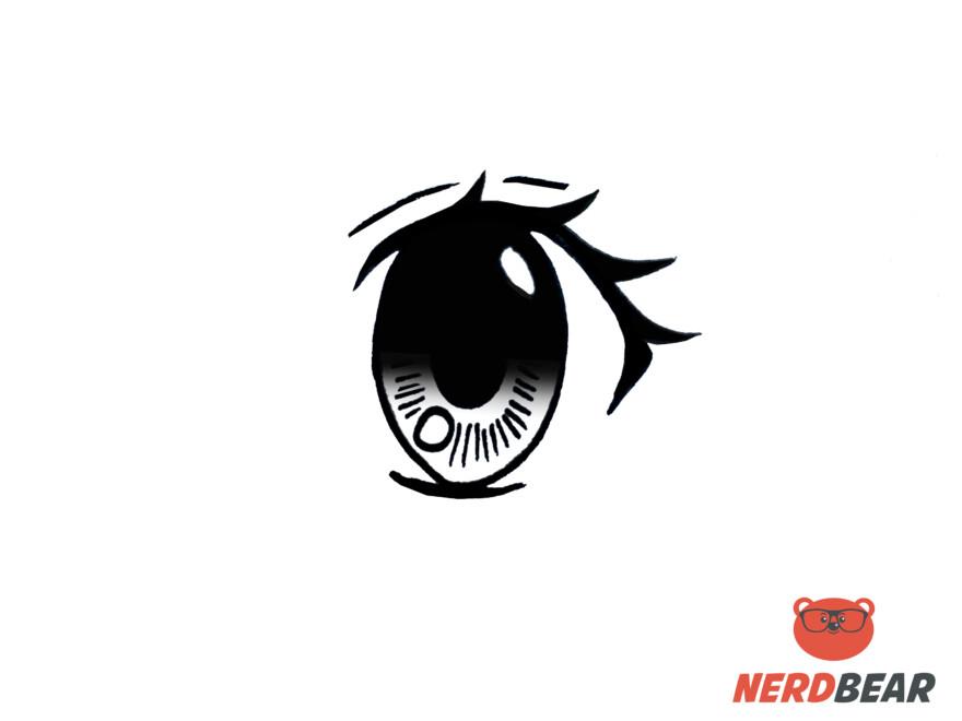 How To Draw Big Feminine Anime Eyes 10