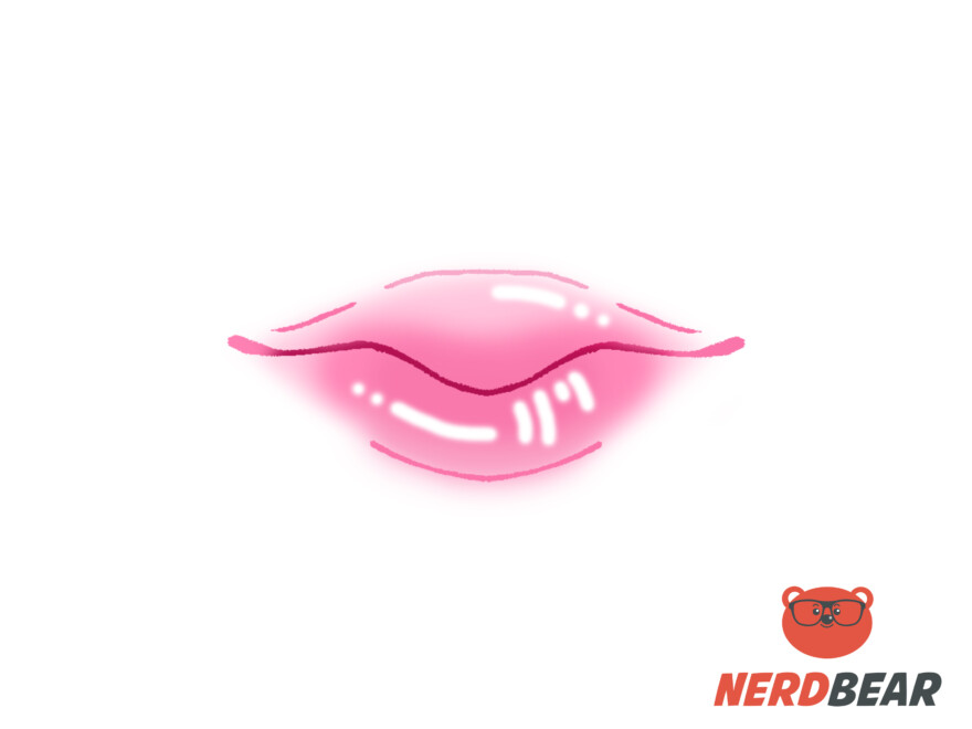 How To Draw Round Anime Lips 6