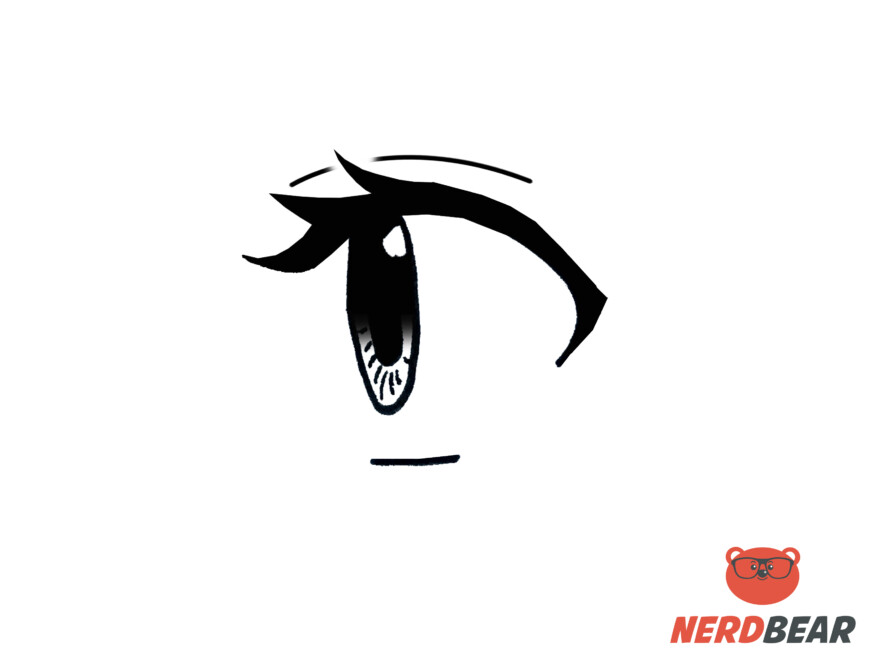 How To Draw Side Profile For Big Anime Eyes 9