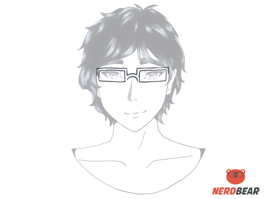 How To Draw Square Anime Glasses 3