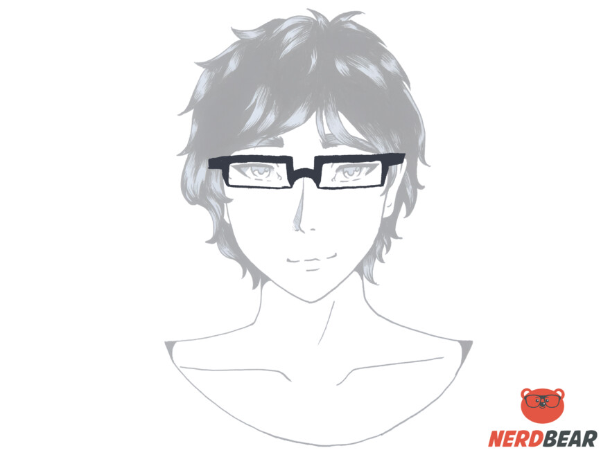 How To Draw Square Anime Glasses 6