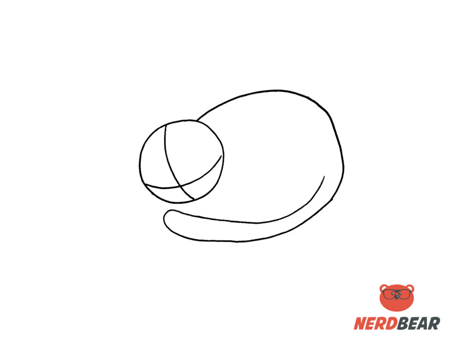 How To Draw A Sleeping Anime Cat 2