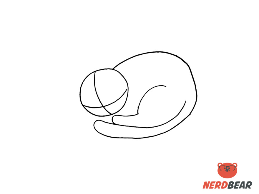How To Draw A Sleeping Anime Cat 3
