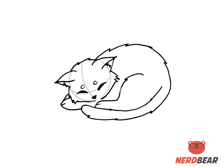 How To Draw A Sleeping Anime Cat 8