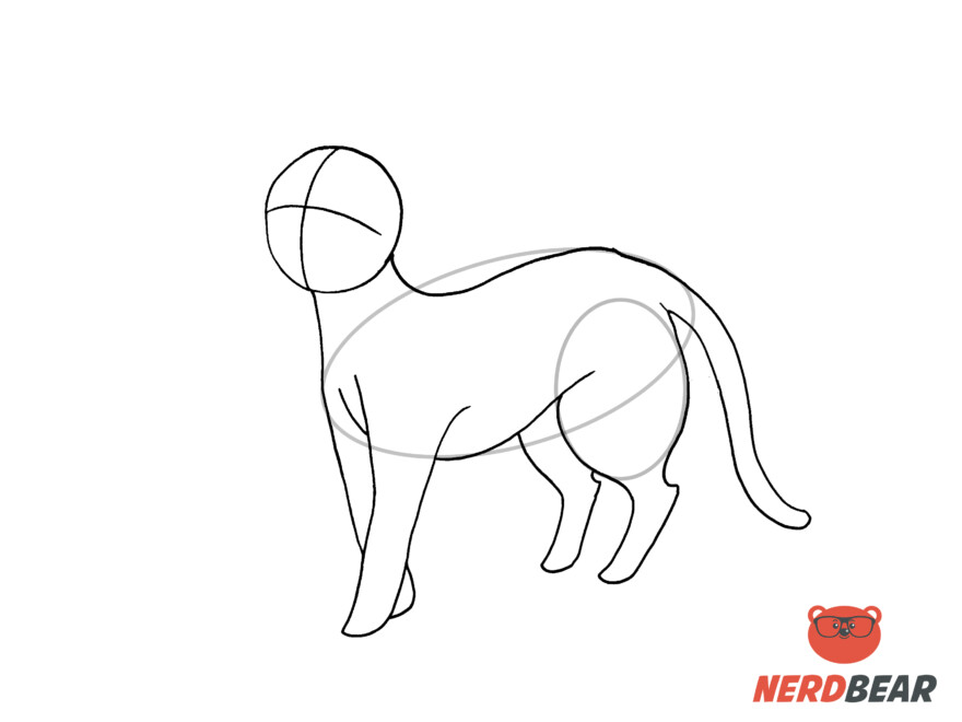 How To Draw A Standing Anime Cat 10