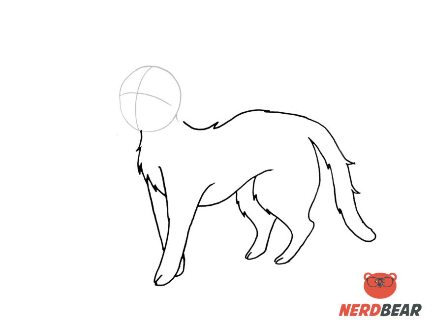 How To Draw A Standing Anime Cat 11