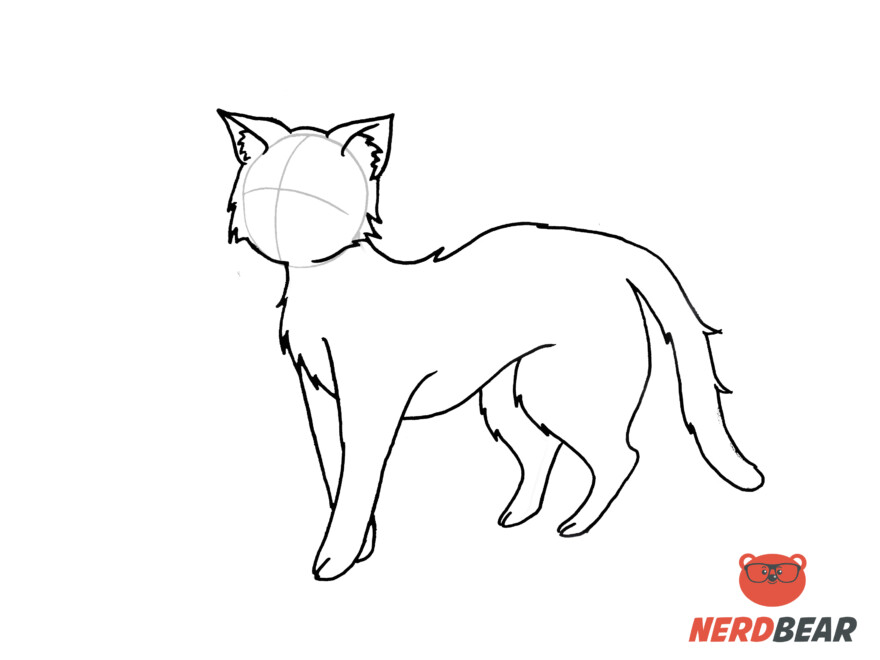 How To Draw A Standing Anime Cat 13