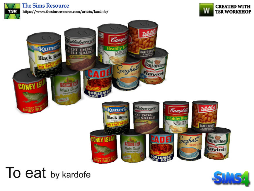 Canned Food Sims 4