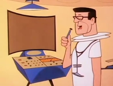 A doctor on the Jetsons using what is probably Dragon version 268.