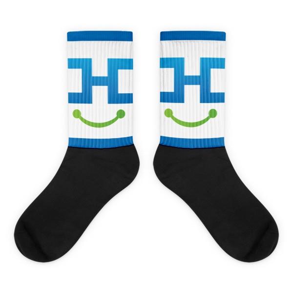 Nerdeek Life mockup-260f1873 Black foot socks