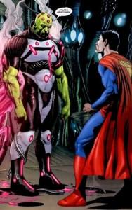 """""""Finalmente, Kryptoniano"""". Questo perché secondo la retcon di Geoff Johns i due non si sono mai incontrati."""