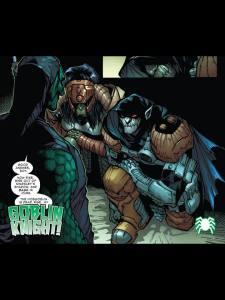 Osborn per vendicarsi gli da il costume pacco con le spalline a zucca