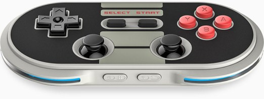 Looks slick ! Very Iphonish . It blends modern and retro. It is wireless (not that it is a modern thing for controllers ) but the design is the killer !
