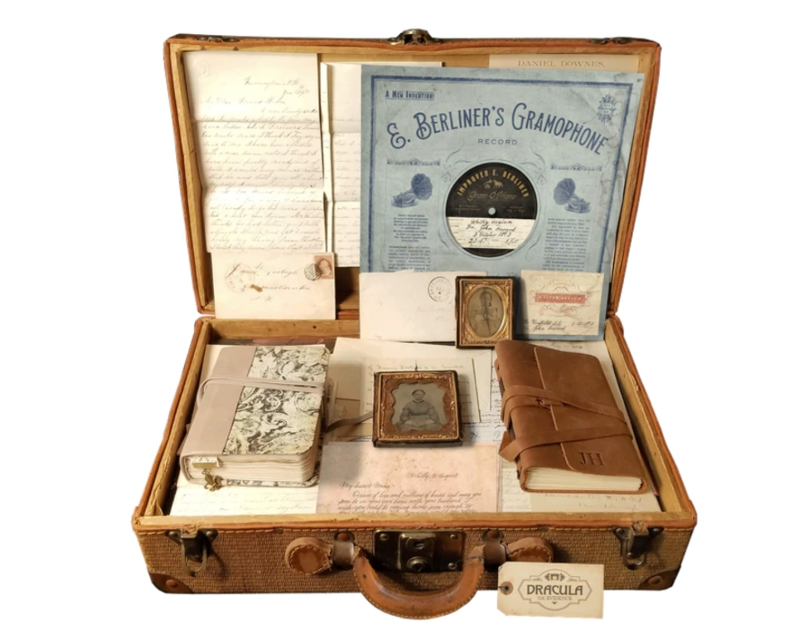"""A new kickstarter project dubbed """"DRACULA: The Evidence"""" features tons of finely crafted """"found documents."""""""