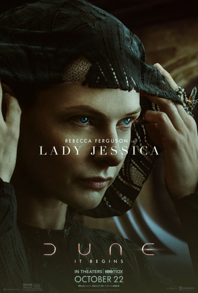 Dune character poster depicting Lady Jessica