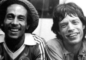 Bob Marley & Mick Jagger