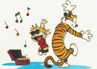 Calvin e Haroldo dançando